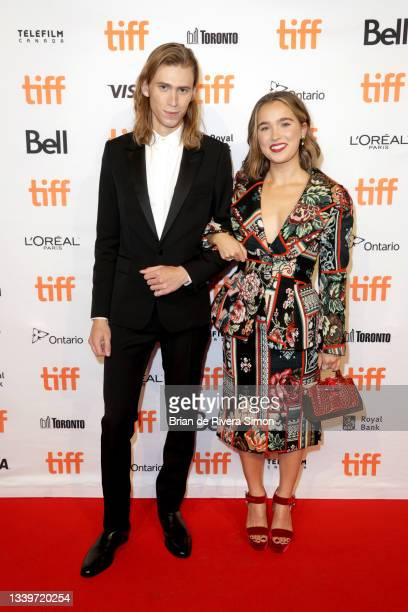 """Owen Teague and Haley Lu Richardson attend the """"Montana Story"""" Photo Call during the 2021 Toronto International Film Festival at TIFF Bell Lightbox..."""