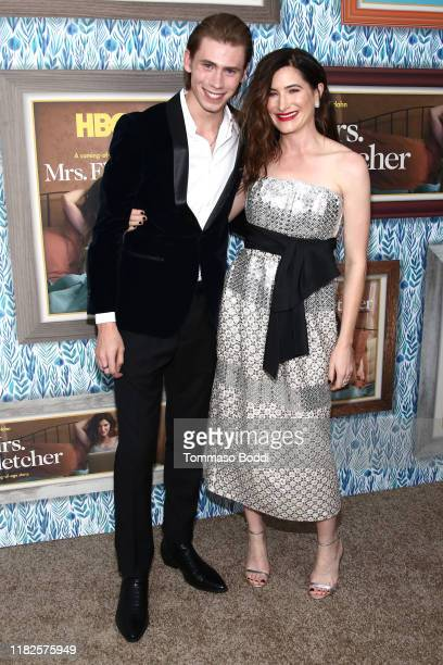Owen Teague and Kathryn Hahn attend the Premiere Of HBO's Mrs Fletcher at Avalon Hollywood on October 21 2019 in Los Angeles California