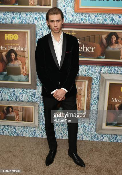 Owen Teague attends the Los Angeles premiere of HBO's Mrs Fletcher held at Avalon Hollywood on October 21 2019 in Los Angeles California
