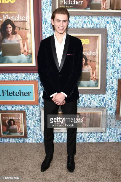 Owen Teague attends the Premiere Of HBO's Mrs Fletcher at Avalon Hollywood on October 21 2019 in Los Angeles California
