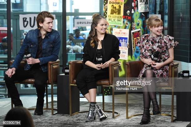 Owen Teague Debbie Ryan and Angourie Rice attend Build Series to discuss 'Every Day' at Build Studio on February 21 2018 in New York City