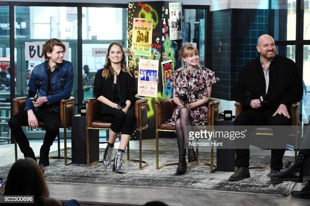 Owen Teague Debbie Ryan Angourie Rice and Michael Sucsy attend Build Series to discuss 'Every Day' at Build Studio on February 21 2018 in New York...