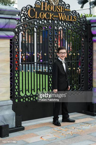Owen Vaccaro attends the UK film premiere of 'The House with a Clock in Its Walls' at Westfield, White City in London. September 05, 2018 in London,...