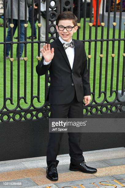 """Owen Vaccaro attends the World Premiere of """"The House With The Clock In Its Walls"""" at Westfield White City on September 05, 2018 in London, England."""