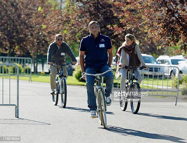Owen Van Natta former Executive Vice President of Business at Zynga riding his bike arrives to Allen Co annual conference on July 12 2013 in Sun...