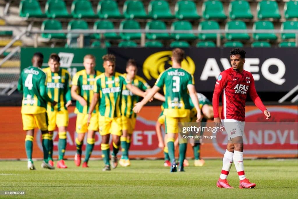 Owen Wijndal Of Az Alkmaar Disappointed About Goal Ado Den Haag News Photo Getty Images