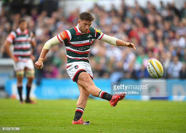 Owen Williams of Leicester Tigers in action during the Aviva Premiership match between Leicester Tigers and Bath Rugby at Welford Road on September...