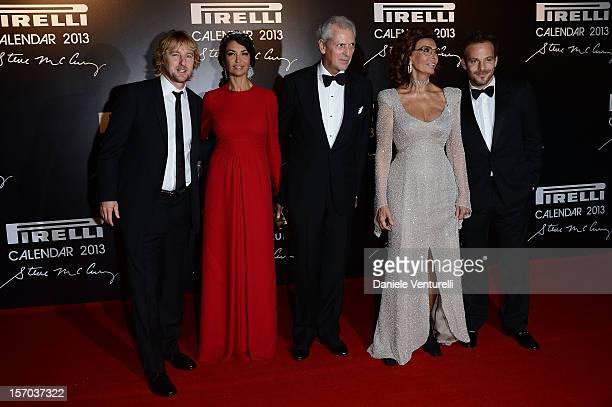 Owen Wilson Afef Jnifen Pirelli C President Marco Tronchetti Provera Sophia Loren and Stephen Dorff attend the '2013 Pirelli Calendar Unveiling' on...