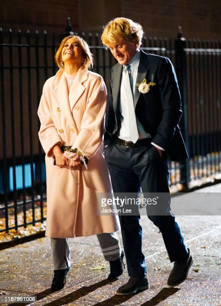 Owen Wilson and Jennifer Lopez film a scene for 'Marry Me' on November 15, 2019 in New York City.