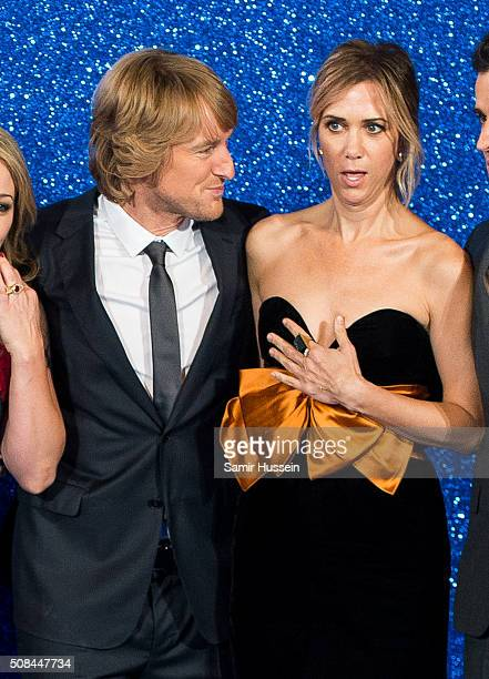 Owen Wilson and Kristen Wiig attendsa London Fan Screening of the Paramount Pictures film 'Zoolander No 2' at Empire Leicester Square on February 4...