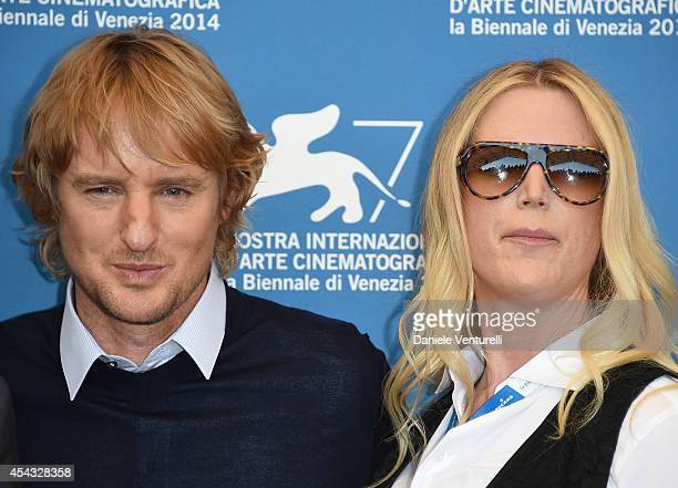 Owen Wilson and Louise Stratten attend the 'She's Funny That Way' Photocall during the 71st Venice Film Festival on August 29 2014 in Venice Italy