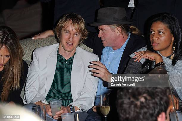 Owen Wilson and Val Kilmer attend the 'Carter Cleveland Wendi Murdoch And Dasha Zhukova Host Party' at Soho Beach House on November 30 2011 in Miami...
