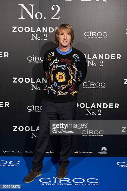 Owen Wilson attends the Madrid Fan Screening of the Paramount Pictures film 'Zoolander No 2' at the Capitol Theater on February 1 2016 in Madrid Spain