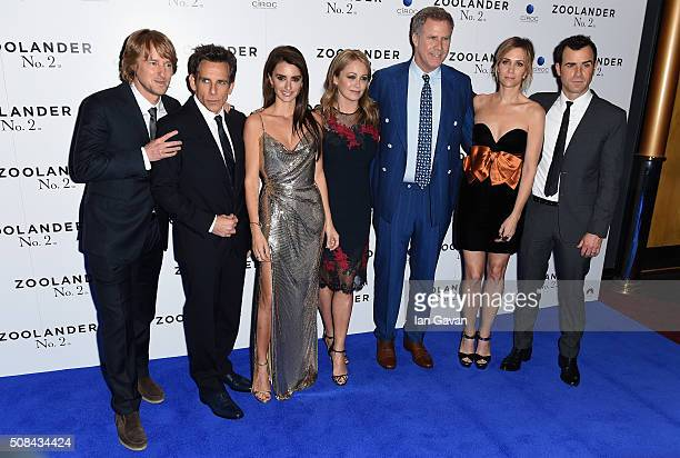 Owen Wilson Ben Stiller Penelope Cruz Christine Taylor Will Ferrell Kristen Wiig and Justin Theroux attends a London Fan Screening of the Paramount...