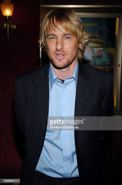 """Owen Wilson during """"The Life Aquatic with Steve Zissou"""" New York Premiere - Inside Arrivals at Ziegfeld Theater in New York City, New York, United..."""