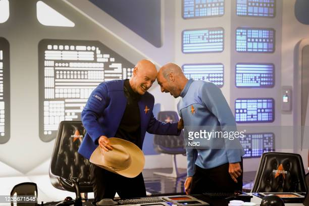 "Owen Wilson"" Episode 1806 -- Pictured: Host Owen Wilson as Jeff Bezos and Luke Wilson as Mark Bezos during the ""Billionaire Star Trek"" sketch on..."