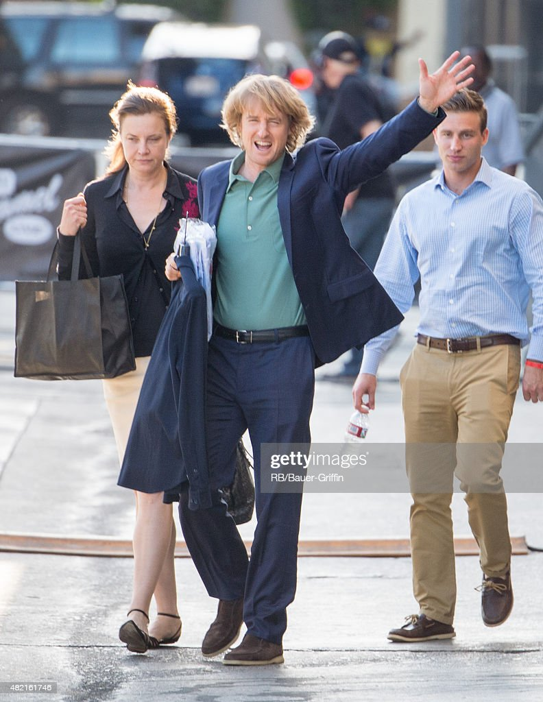 Owen Wilson is seen at the 'Jimmy Kimmel Live' show studios on July 27, 2015 in Los Angeles, California.