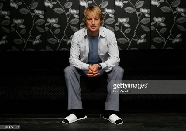 Owen Wilson poses during a photo call for Hall Pass at Sheraton on the Park Hotel on February 28 2011 in Sydney Australia