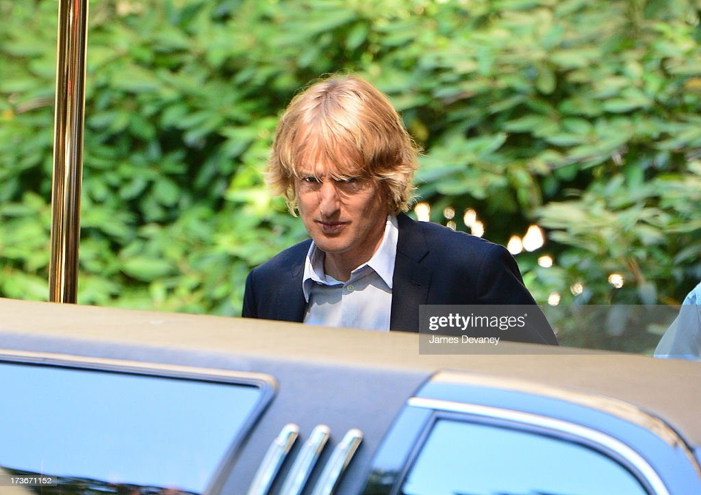 Owen Wilson seen on the set of 'Squirrels to the Nuts' on July 16, 2013 in New York City.