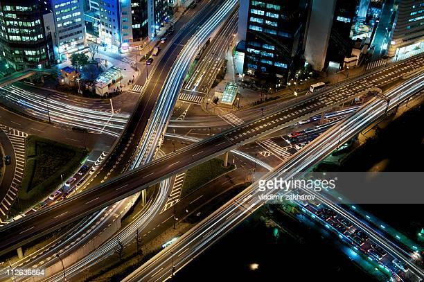 Owerhead view of  Akasaka Mitsuke Crossing, Tokyo