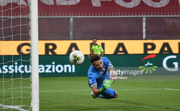 Own goal of Gabriel for US Lecce during the Serie A match between Genoa CFC and US Lecce at Stadio Luigi Ferraris on July 19, 2020 in Genoa, Italy.