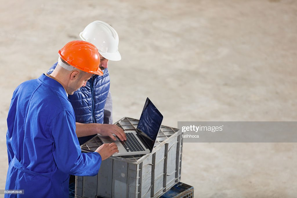 Owner and Foreman : Stock Photo