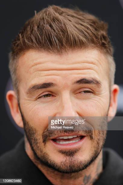 Owner and President of Soccer Operations David Beckham addresses the media ahead of Inter Miami CF's inaugural match on March 1st against LAFC during...