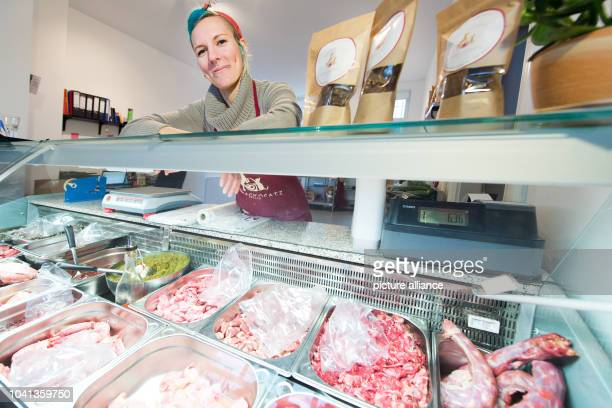 Owner Anne Kroenke in her Barfshop in Berlin Germany 4 February 2016 Barf is short for 'Bones and raw foods' a method that is based on the eating...