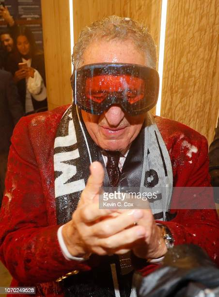 Owner Arthur Blank celebrates their 20 win over the Portland Timbers during the 2018 MLS Cup between Atlanta United and the Portland Timbers at...