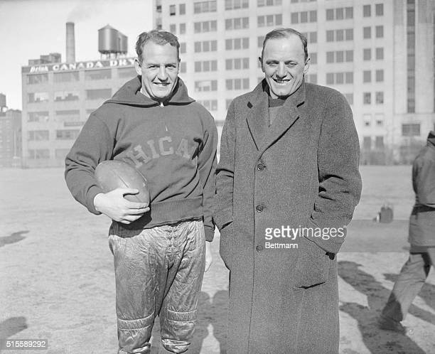 Owner coach George Halas with Chicago Bears' Red Orange