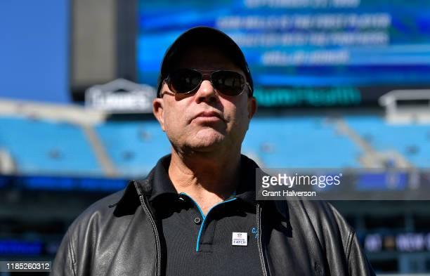 Owner David Tepper of the Carolina Panthers watches his team during their game against the Tennessee Titans at Bank of America Stadium on November 03...