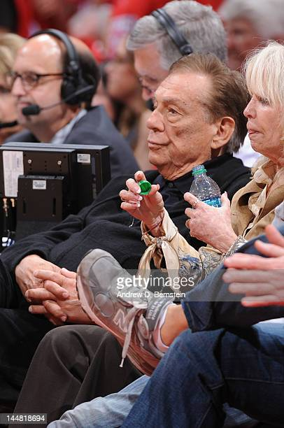 Owner Donald Sterling of the Los Angeles Clippers looks on during a game against the San Antonio Spurs in Game Three of the Western Conference...