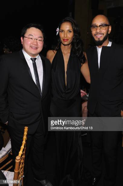 Owner EMI Music Publishing and Chairman EMI Music Publishing Asia Jho Low Padma Lakshmi and Swizz Beatz attend Keep A Child Alive's 10th Annual Black...