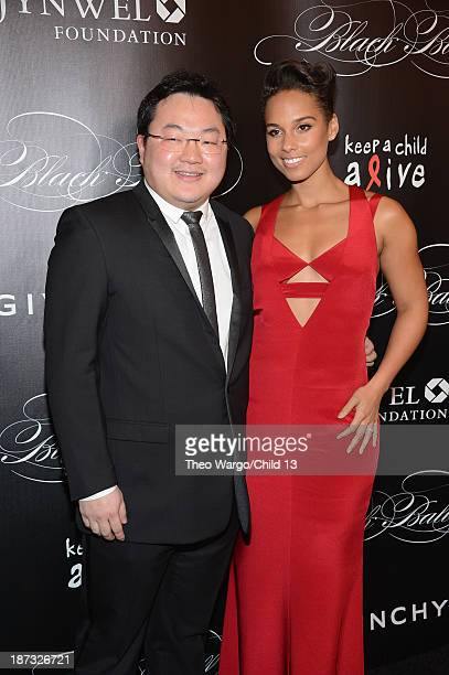 Owner EMI Music Publishing and Chairman EMI Music Publishing Asia Jho Low and Alicia Keys attend Keep A Child Alive's 10th Annual Black Ball at...