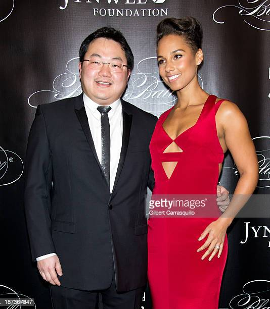 Owner EMI Music Publishing and Chairman EMI Music Publishing Asia Jho Low and Alicia Keys attends the 10th annual Keep A Child Alive Black Ball at...