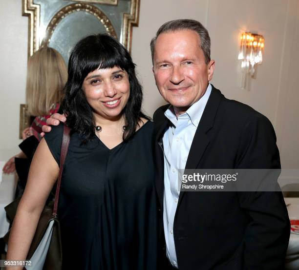 Owner Founder of DEY Rimjhim Dey and head of Public Affairs at GLG Richard Socarides attend GLG Social Impact Dinner At Milken at Cecconi's on April...