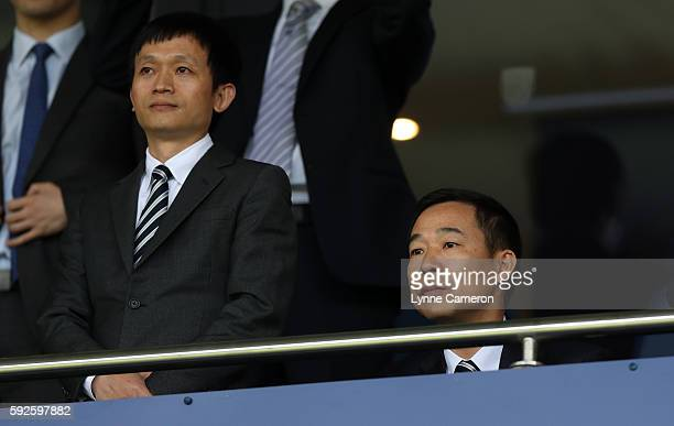 Owner Guochuan Lai of West Bromwich Albion during the Premier League match between West Bromwich Albion and Everton at The Hawthorns on August 20...