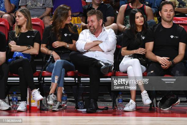 Owner James Dolan of the New York Knicks watches on during the game against the Phoenix Suns during Day 3 of the 2019 Las Vegas Summer League on July...