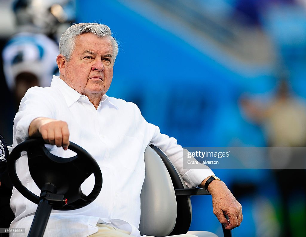 Owner Jerry Richardson of the Carolina Panthers before a game against the Pittsburgh Steelers during a preseason NFL game at Bank of America Stadium on August 29, 2013 in Charlotte, North Carolina. The Panthers won 25-10.