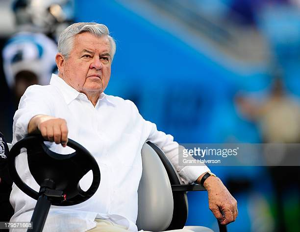 Owner Jerry Richardson of the Carolina Panthers before a game against the Pittsburgh Steelers during a preseason NFL game at Bank of America Stadium...