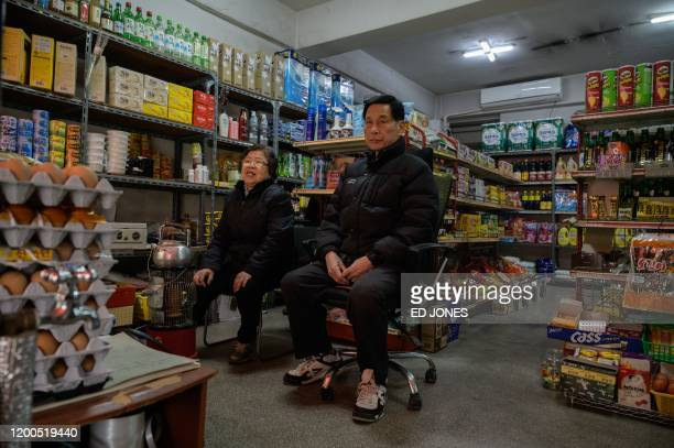 Owner Kim Kyungsoon sits in the Pig Rice supermarket in Seoul on February 13 2020 Locations featured in the South Korea's Oscarwinning Parasite are...