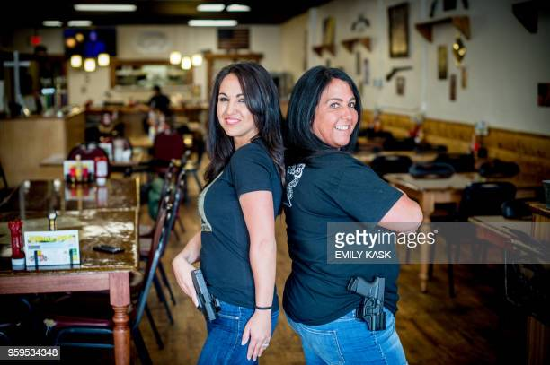 Owner Lauren Boebert, left, poses for a portrait with her mother, Shawna Bentz, at Shooters Grill in Rifle, Colorado on April 24, 2018. - Lauren...