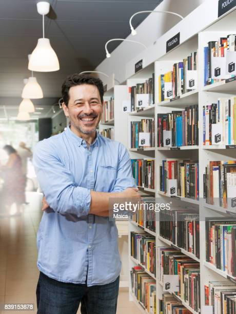 Owner man of the bookstore