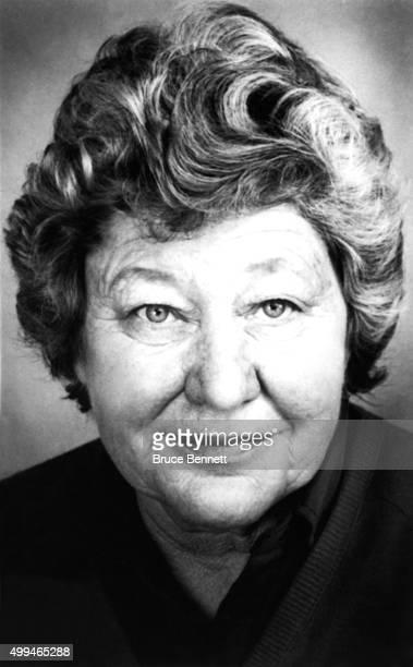 Owner Marge Schott of the Cincinnati Reds poses for a portrait in March 1988 in Cincinnati Ohio