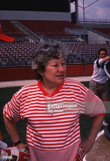 Owner Marge Schott of the Cincinnati Reds prior to a Reds game Mandatory Credit Rick Stewart/ALLSPORT