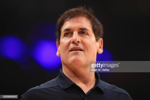 Owner Mark Cuban of the Dallas Mavericks looks on during the first half of a game against the Los Angeles Lakers at Staples Center on October 31 2018...
