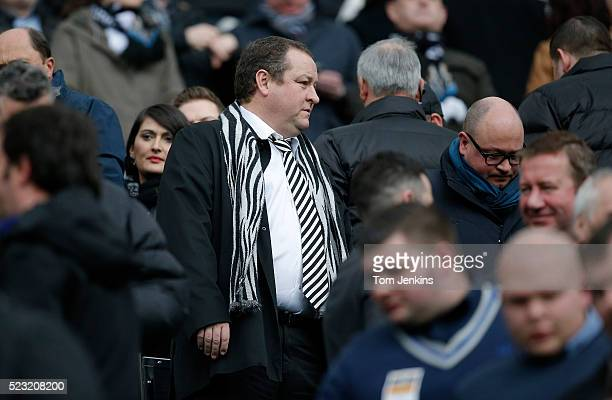Owner Mike Ashley during the Newcastle United v Aston Villa FA Premier League match at St James Park on February 28th 2015 in Newcastle