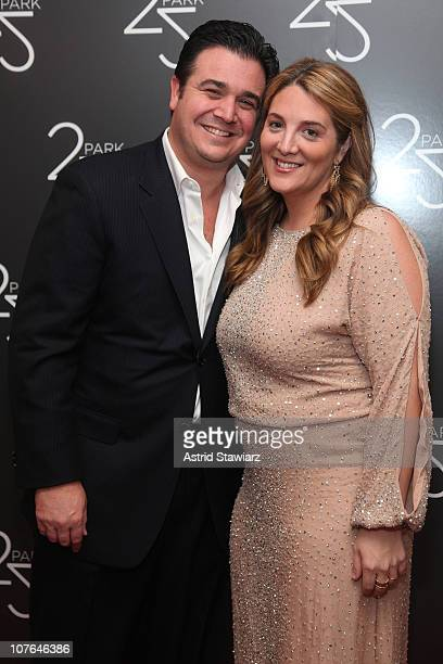 Owner of 25 Park Andy Brettschneider and Alison Brettschneider attend the Grand Opening of 25 Park Flagship Store at 25 Park Flagship Store on...