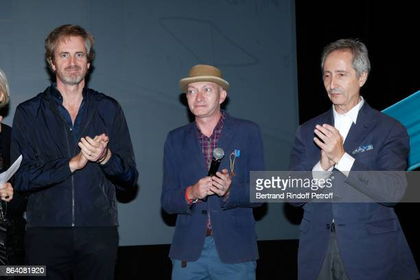 Owner of 'Beaux Arts magazine' Frederic Jousset Managing Editor at Beaux Arts magazine Fabrice Bousteau and Director of Museum of Centre Pompidou...