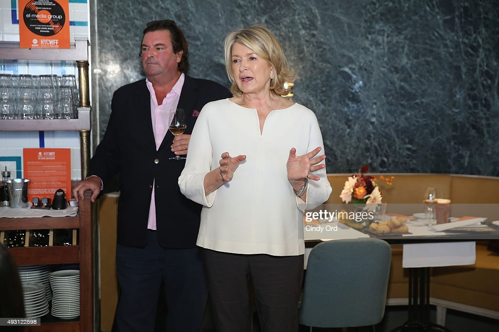 Owner of Chateau D'Esclans Sacha Lichine and Martha Stewart speak at the Rose Brunch Hosted By Martha Stewart during Food Network & Cooking Channel New York City Wine & Food Festival presented By FOOD & WINE at Beauborg on October 17, 2015 in New York City.